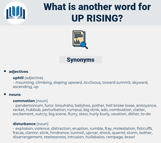 up rising, synonym up rising, another word for up rising, words like up rising, thesaurus up rising