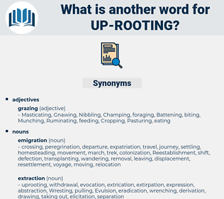 up-rooting, synonym up-rooting, another word for up-rooting, words like up-rooting, thesaurus up-rooting