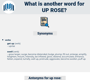 up rose, synonym up rose, another word for up rose, words like up rose, thesaurus up rose