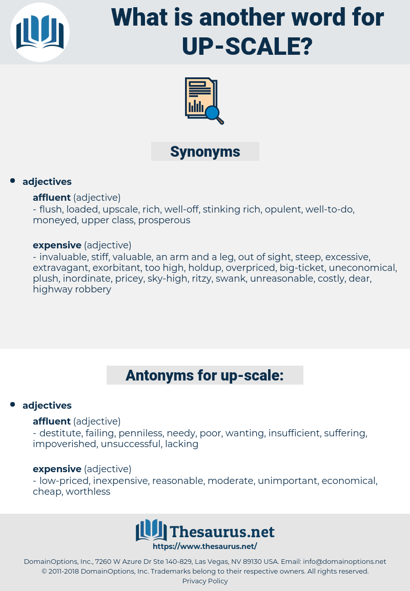 up-scale, synonym up-scale, another word for up-scale, words like up-scale, thesaurus up-scale
