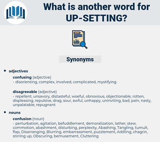 up-setting, synonym up-setting, another word for up-setting, words like up-setting, thesaurus up-setting