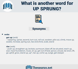 up-sprung, synonym up-sprung, another word for up-sprung, words like up-sprung, thesaurus up-sprung
