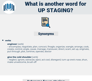 up staging, synonym up staging, another word for up staging, words like up staging, thesaurus up staging
