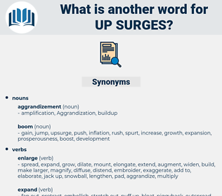 up surges, synonym up surges, another word for up surges, words like up surges, thesaurus up surges