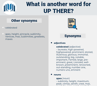 up there, synonym up there, another word for up there, words like up there, thesaurus up there