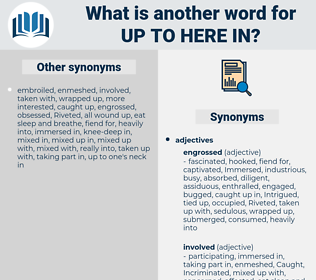 up to here in, synonym up to here in, another word for up to here in, words like up to here in, thesaurus up to here in