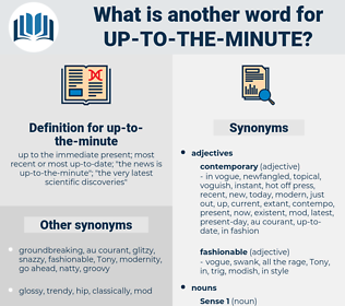 up to the minute, synonym up to the minute, another word for up to the minute, words like up to the minute, thesaurus up to the minute