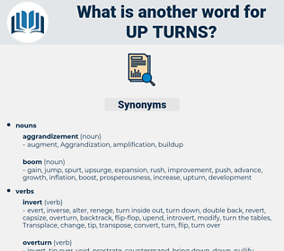 up turns, synonym up turns, another word for up turns, words like up turns, thesaurus up turns