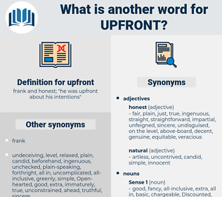 upfront, synonym upfront, another word for upfront, words like upfront, thesaurus upfront