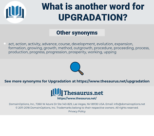 upgradation, synonym upgradation, another word for upgradation, words like upgradation, thesaurus upgradation