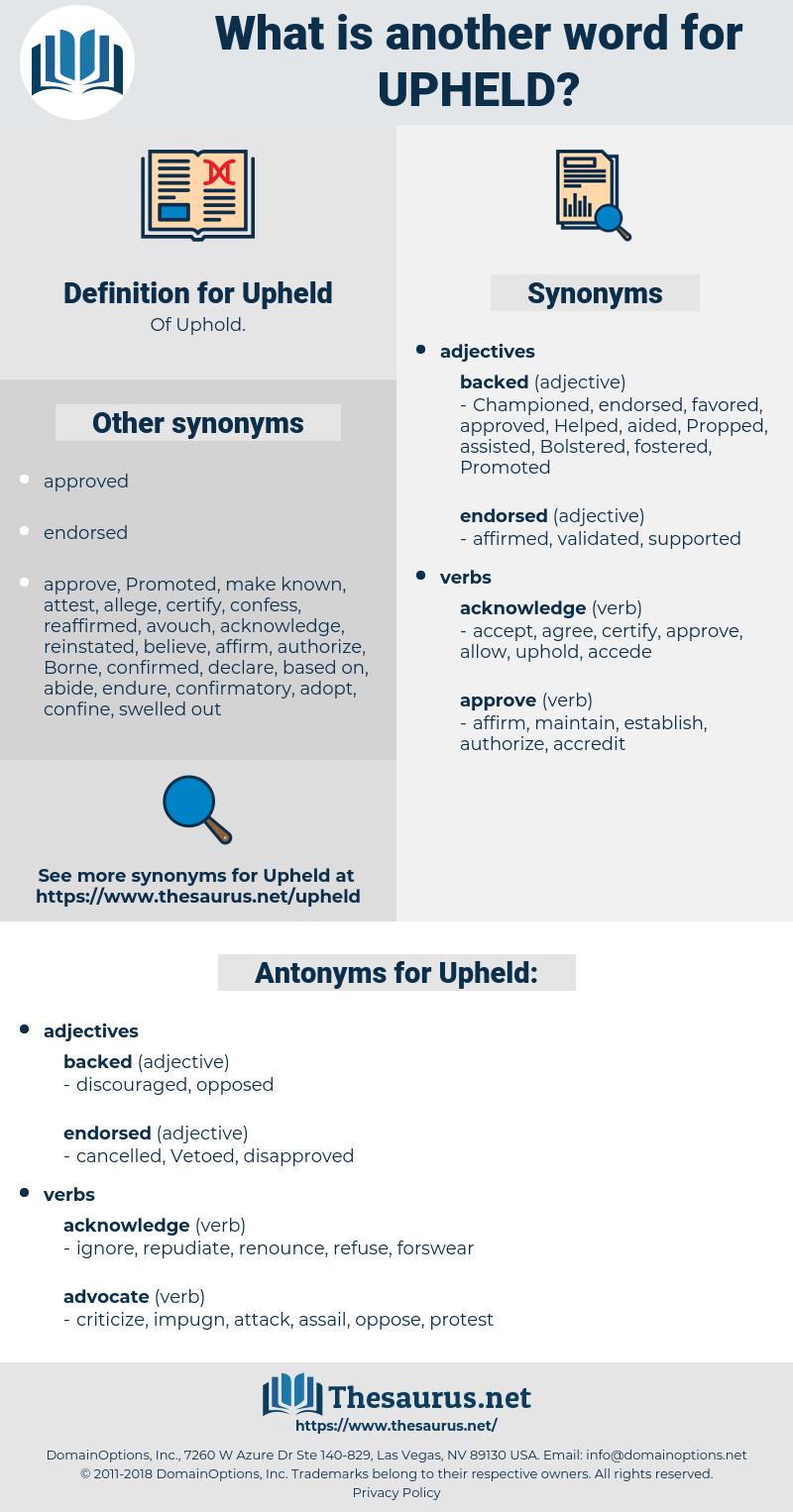 Upheld, synonym Upheld, another word for Upheld, words like Upheld, thesaurus Upheld