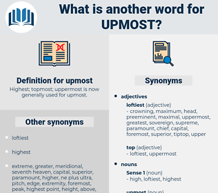 upmost, synonym upmost, another word for upmost, words like upmost, thesaurus upmost