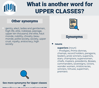 upper classes, synonym upper classes, another word for upper classes, words like upper classes, thesaurus upper classes