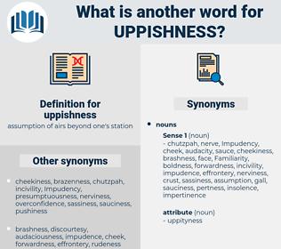 uppishness, synonym uppishness, another word for uppishness, words like uppishness, thesaurus uppishness