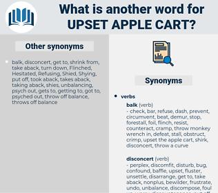 upset apple cart, synonym upset apple cart, another word for upset apple cart, words like upset apple cart, thesaurus upset apple cart