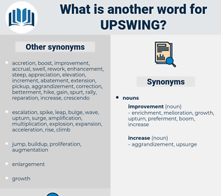 upswing, synonym upswing, another word for upswing, words like upswing, thesaurus upswing