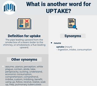 uptake, synonym uptake, another word for uptake, words like uptake, thesaurus uptake