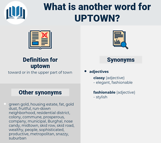 uptown, synonym uptown, another word for uptown, words like uptown, thesaurus uptown