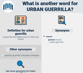 urban guerrilla, synonym urban guerrilla, another word for urban guerrilla, words like urban guerrilla, thesaurus urban guerrilla