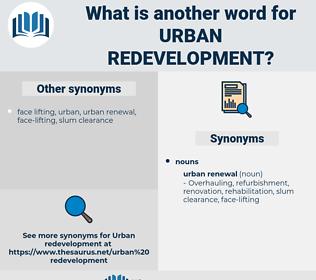 urban redevelopment, synonym urban redevelopment, another word for urban redevelopment, words like urban redevelopment, thesaurus urban redevelopment