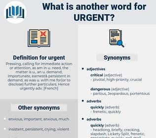 urgent, synonym urgent, another word for urgent, words like urgent, thesaurus urgent