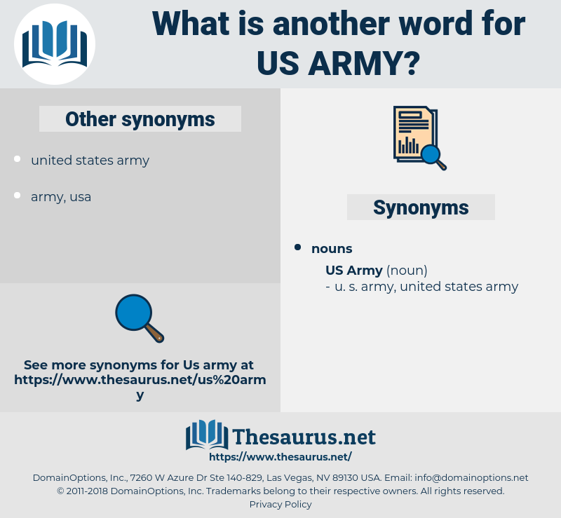 us army, synonym us army, another word for us army, words like us army, thesaurus us army