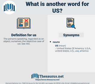 us, synonym us, another word for us, words like us, thesaurus us