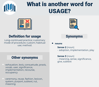 usage, synonym usage, another word for usage, words like usage, thesaurus usage