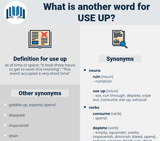 use up, synonym use up, another word for use up, words like use up, thesaurus use up