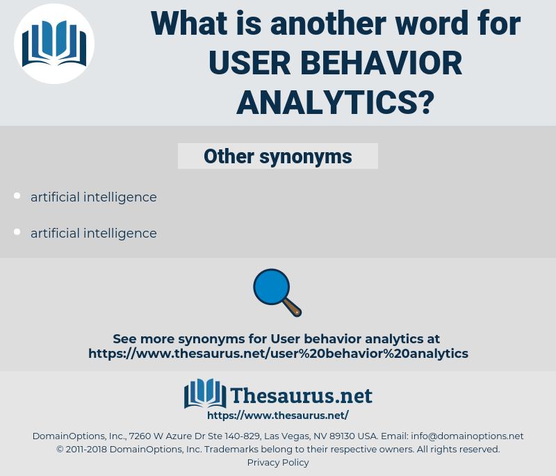 user behavior analytics, synonym user behavior analytics, another word for user behavior analytics, words like user behavior analytics, thesaurus user behavior analytics