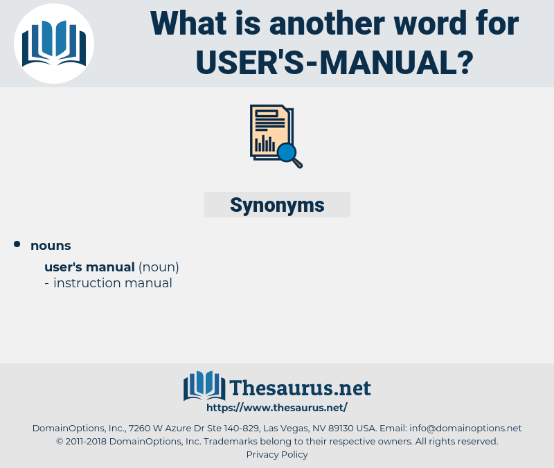 user's manual, synonym user's manual, another word for user's manual, words like user's manual, thesaurus user's manual