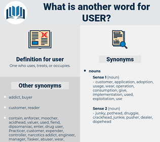user, synonym user, another word for user, words like user, thesaurus user