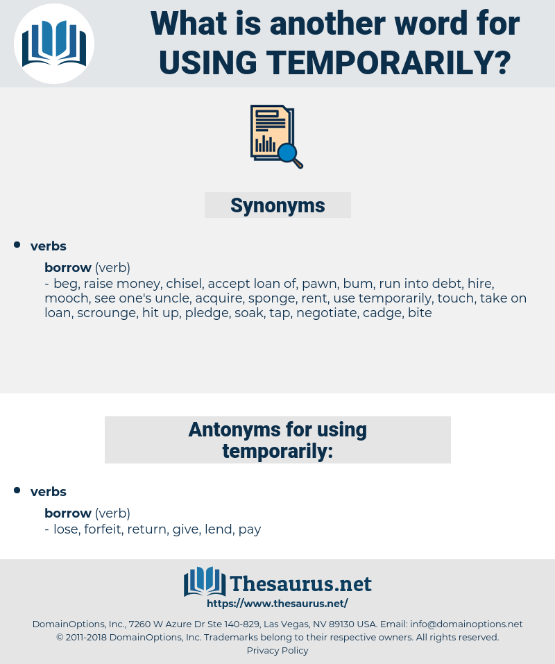 using temporarily, synonym using temporarily, another word for using temporarily, words like using temporarily, thesaurus using temporarily