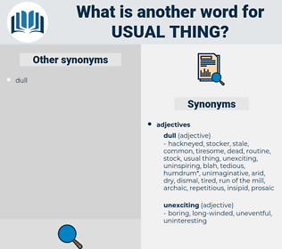 usual thing, synonym usual thing, another word for usual thing, words like usual thing, thesaurus usual thing