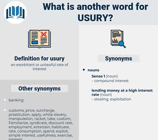 usury, synonym usury, another word for usury, words like usury, thesaurus usury