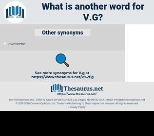 v.g, synonym v.g, another word for v.g, words like v.g, thesaurus v.g