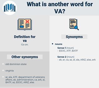 va, synonym va, another word for va, words like va, thesaurus va