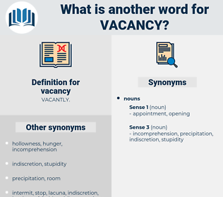 vacancy, synonym vacancy, another word for vacancy, words like vacancy, thesaurus vacancy