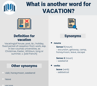 vacation, synonym vacation, another word for vacation, words like vacation, thesaurus vacation