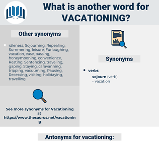vacationing, synonym vacationing, another word for vacationing, words like vacationing, thesaurus vacationing