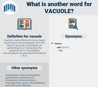 vacuole, synonym vacuole, another word for vacuole, words like vacuole, thesaurus vacuole
