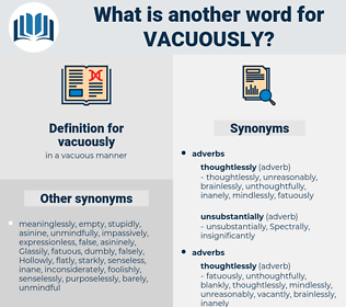 vacuously, synonym vacuously, another word for vacuously, words like vacuously, thesaurus vacuously
