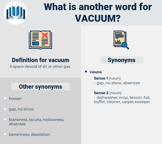 vacuum, synonym vacuum, another word for vacuum, words like vacuum, thesaurus vacuum