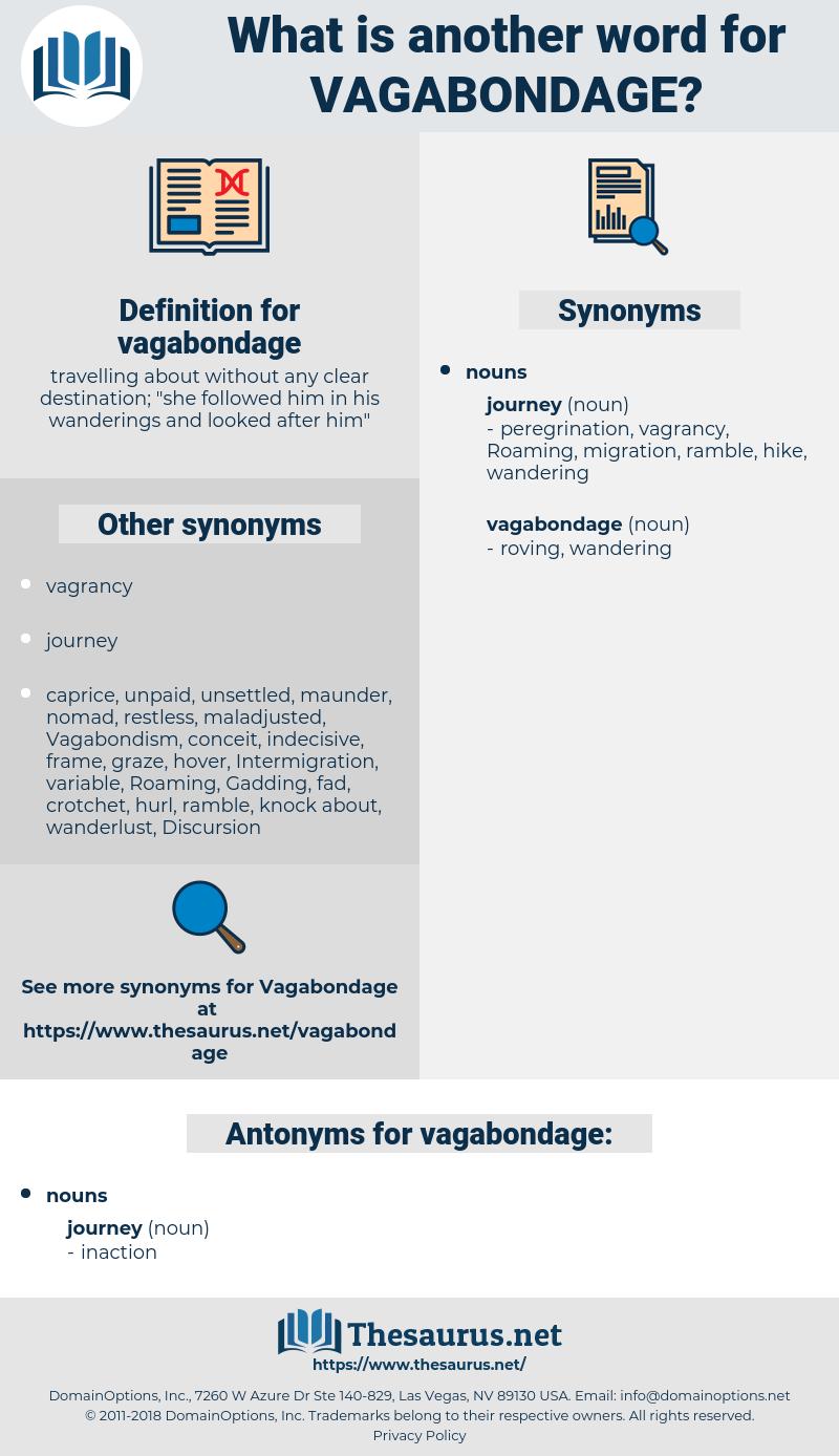 vagabondage, synonym vagabondage, another word for vagabondage, words like vagabondage, thesaurus vagabondage