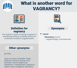 vagrancy, synonym vagrancy, another word for vagrancy, words like vagrancy, thesaurus vagrancy