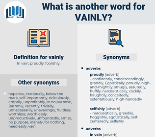 vainly, synonym vainly, another word for vainly, words like vainly, thesaurus vainly