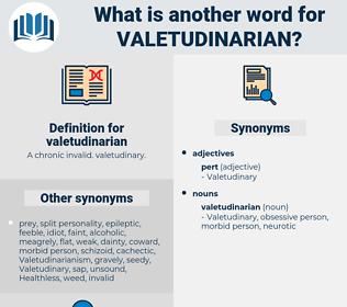 valetudinarian, synonym valetudinarian, another word for valetudinarian, words like valetudinarian, thesaurus valetudinarian