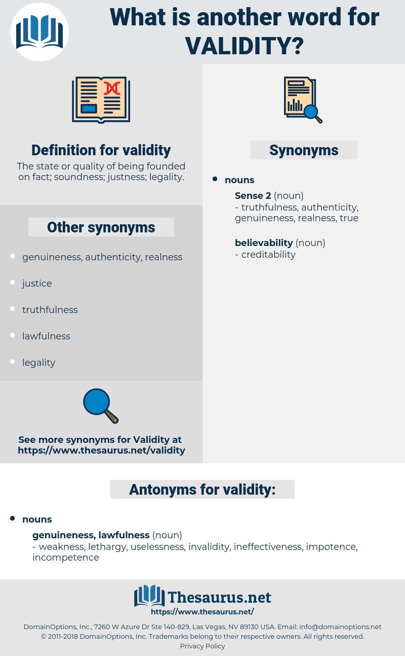 validity, synonym validity, another word for validity, words like validity, thesaurus validity