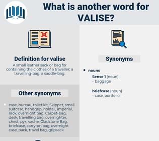 valise, synonym valise, another word for valise, words like valise, thesaurus valise