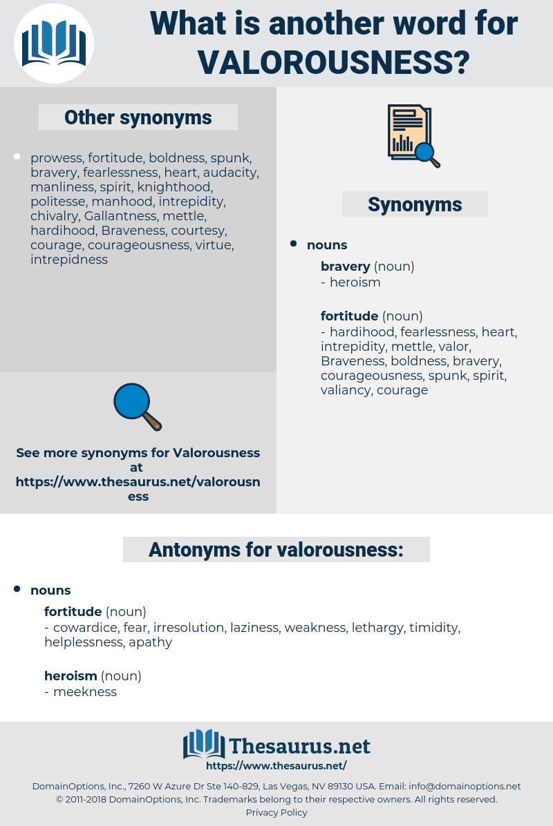 valorousness, synonym valorousness, another word for valorousness, words like valorousness, thesaurus valorousness
